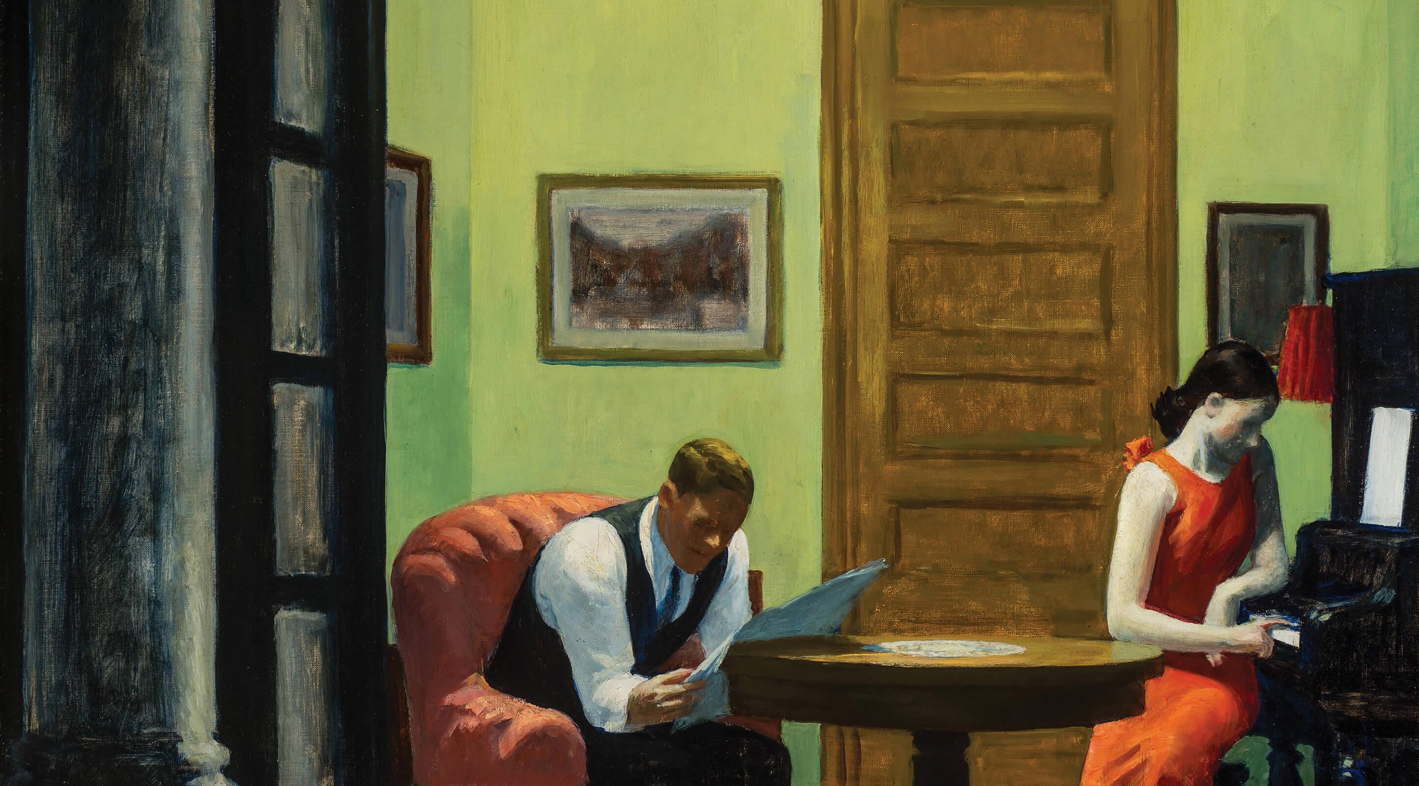 """Edward Hopper's """"Room in New York"""""""