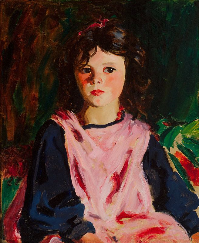 The Pink Pinafore by Robert Henri