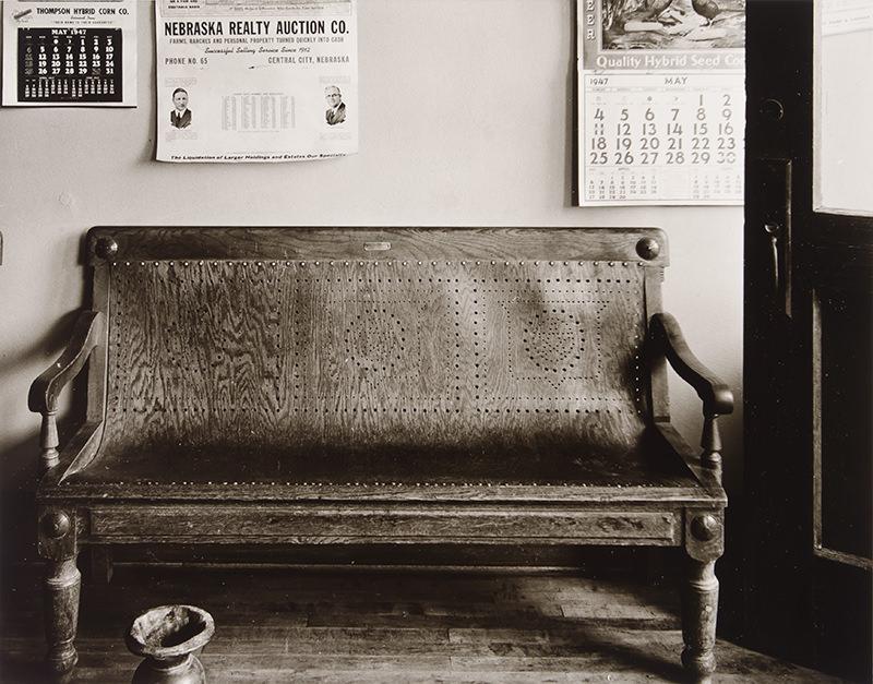 Bench, Cahow's Barbershop, Chapman, Nebraska by Wright Morris