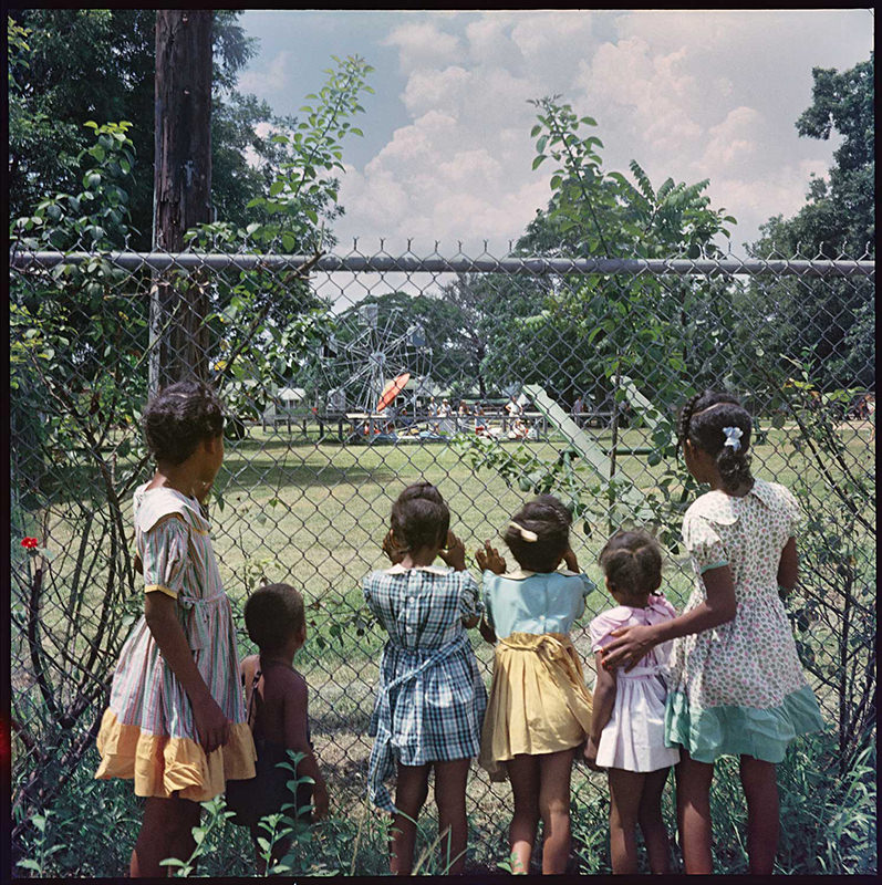 "Gordon Parks photograph: ""Outside Looking In, Mobile, Alabama, 1956"""