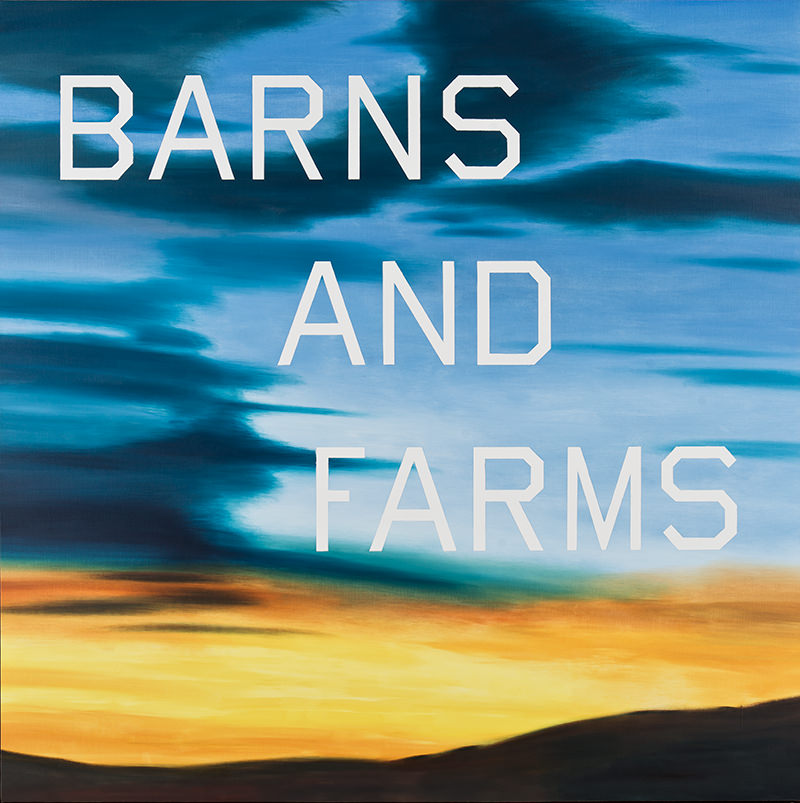Ruscha, Barns and Farms