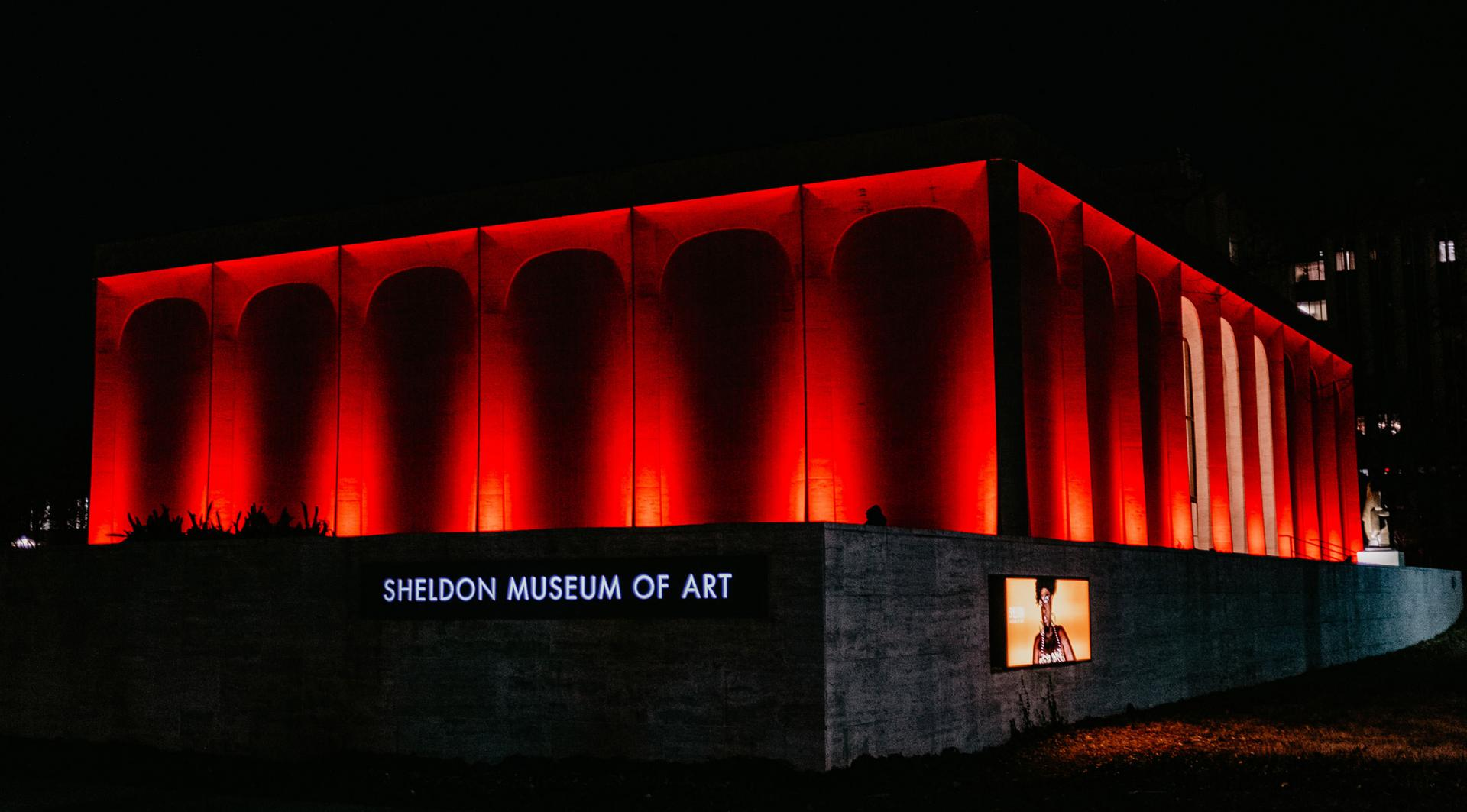 Sheldon Museum of Art west façade